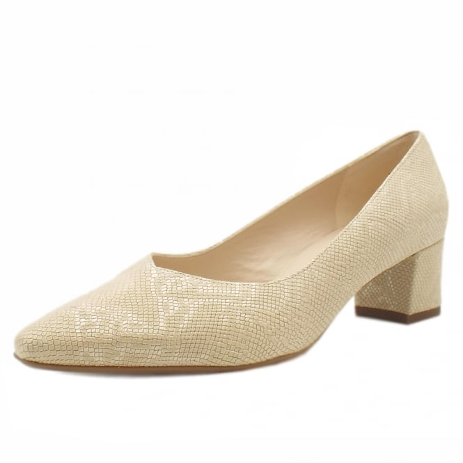 Peter Kaiser Bayli Low Heel Wide Fit Shoes in Sand Tiles