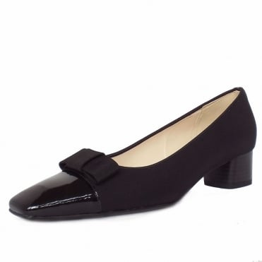 Beli low heel court shoes in black