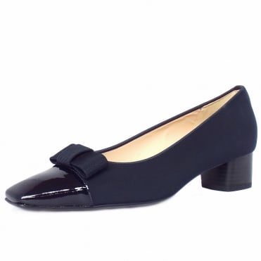 Beli low heel court shoes in navy