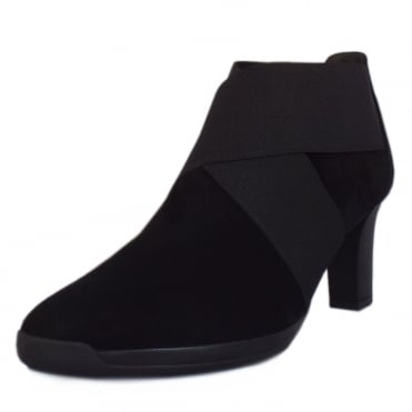 Bell Fashion Ankle Boot in Black Suede