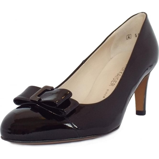 Peter Kaiser Bergena Rounded Toe Court Shoes In Black Patent