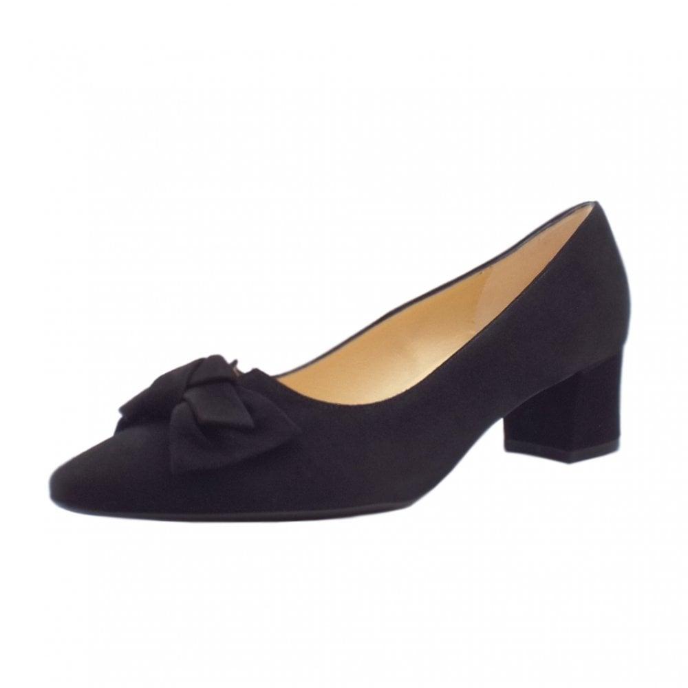 black wide fit court heels