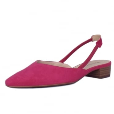 Peter Kaiser Carsta Women's Dressy Low Heel Sandals in Berry Suede