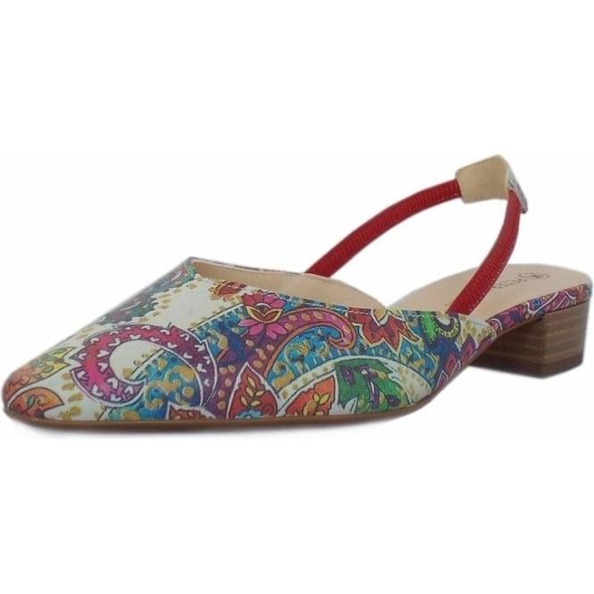 Mozimo Carsta Women's Dressy Low Heel Sandals in Multi Paisli