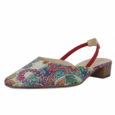 Peter Kaiser Carsta Women's Dressy Low Heel Sandals in Multi Paisli