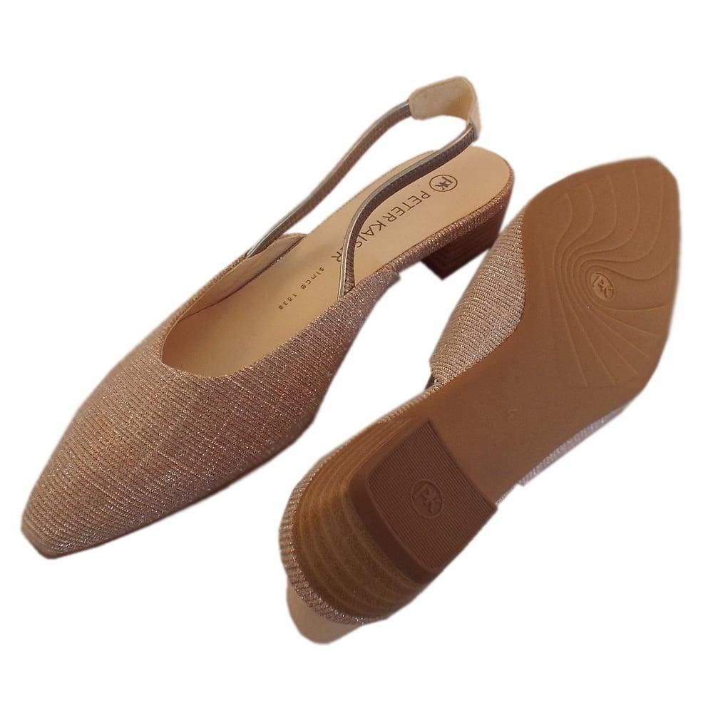 333093920621 Castra Women  039 s Dressy Low Heel Sandals in Powder Shimmer