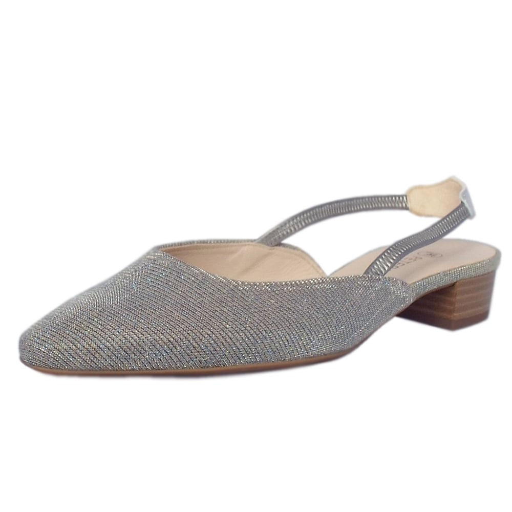 fa9a87425 Castra Women  039 s Dressy Low Heel Sandals in Topas Shimmer
