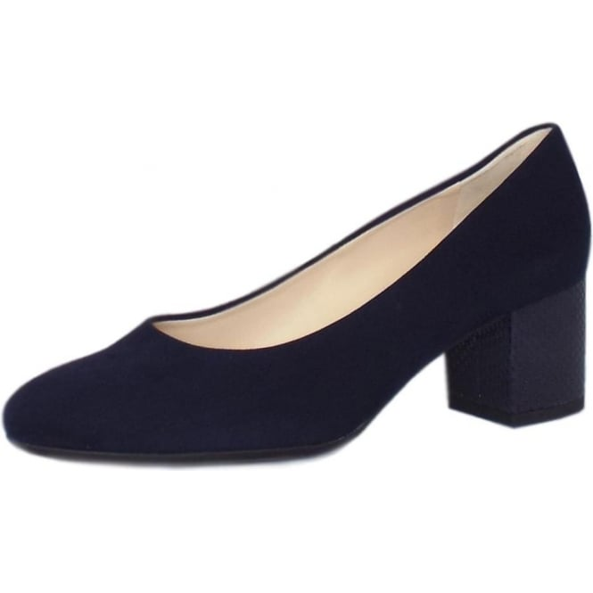 Peter Kaiser Christin Wide Fit Court Shoes in Notte Suede