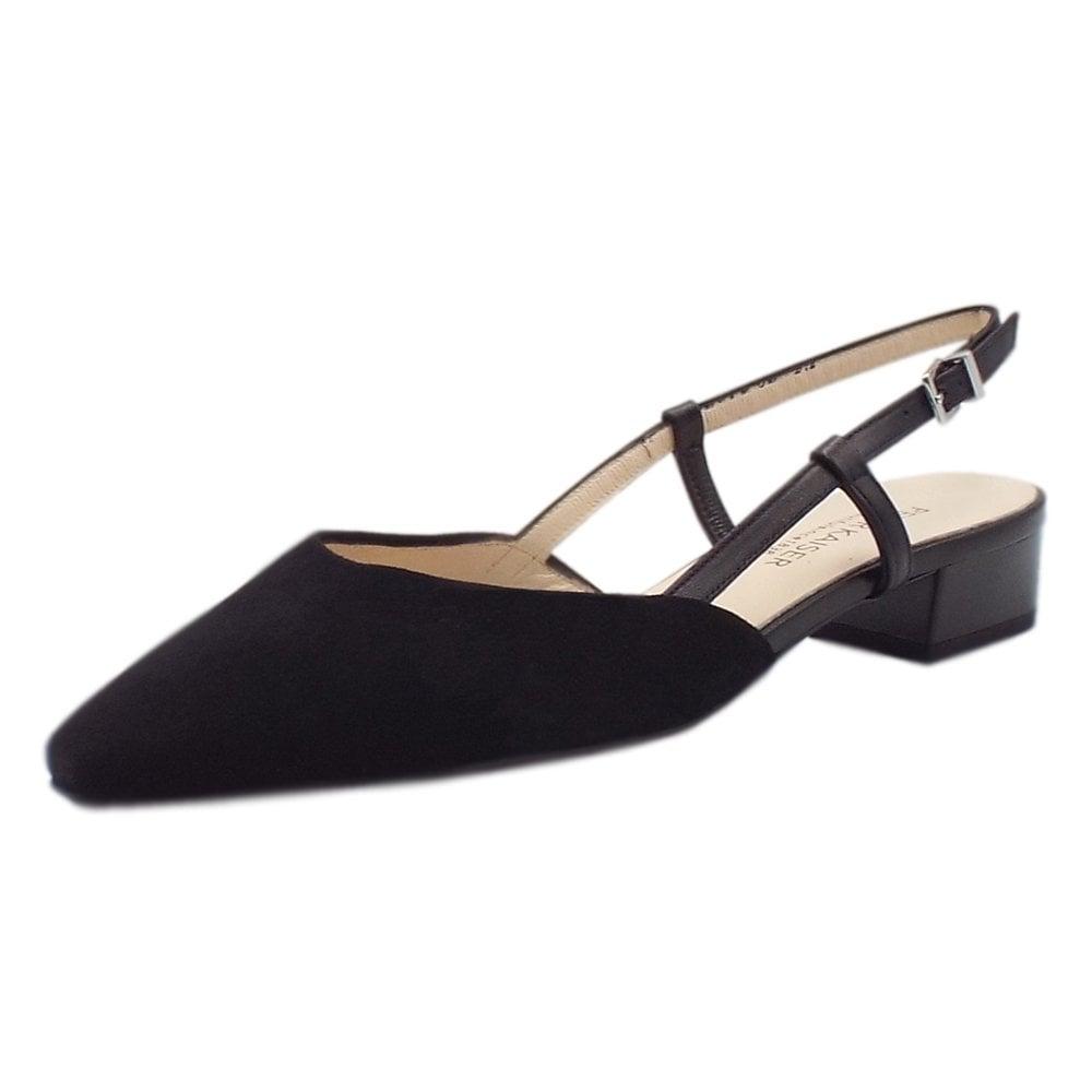 dressy black low heel shoes