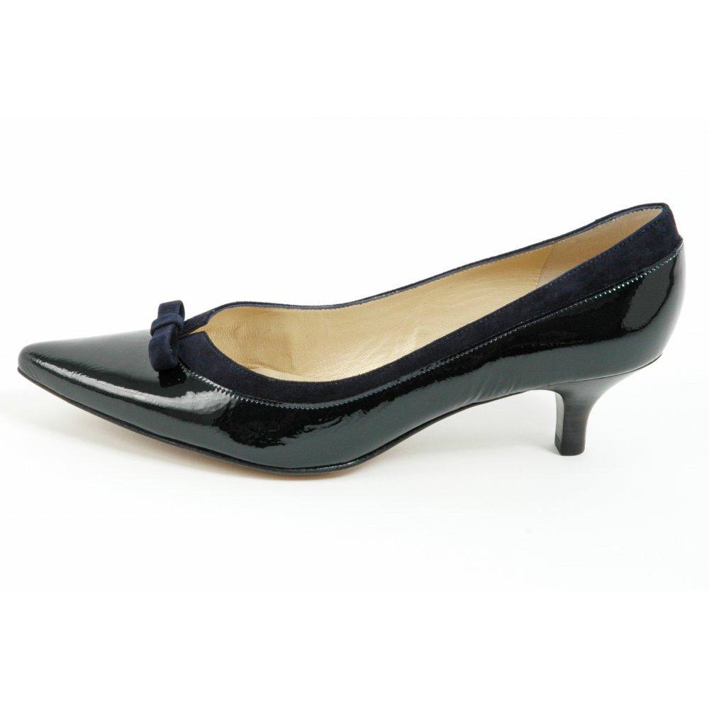 peter kasier dalila kitten heel pointy toe shoes in navy kitten heel pointy toe court shoes. Black Bedroom Furniture Sets. Home Design Ideas