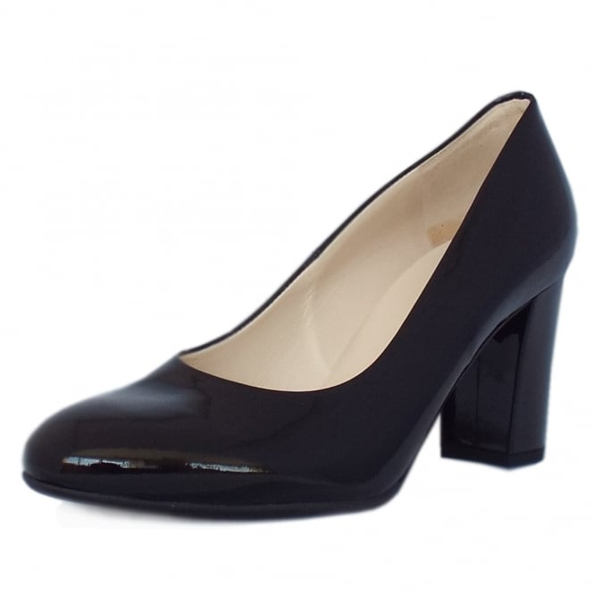 Peter Kaiser Dalmara Classic Court Shoes in Black Patent