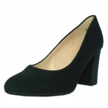 Peter Kaiser Dalmara Classic Court Shoes in Bottle Suede