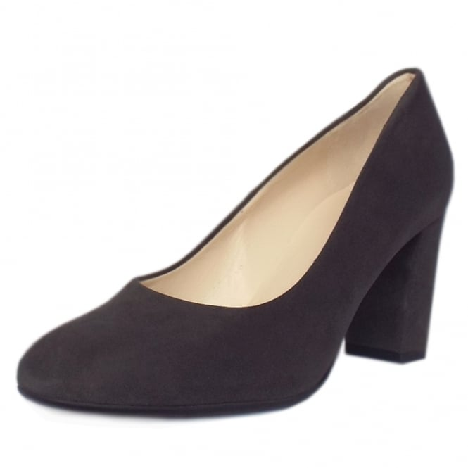 Peter Kaiser Dalmara Classic Court Shoes in Carbon Suede