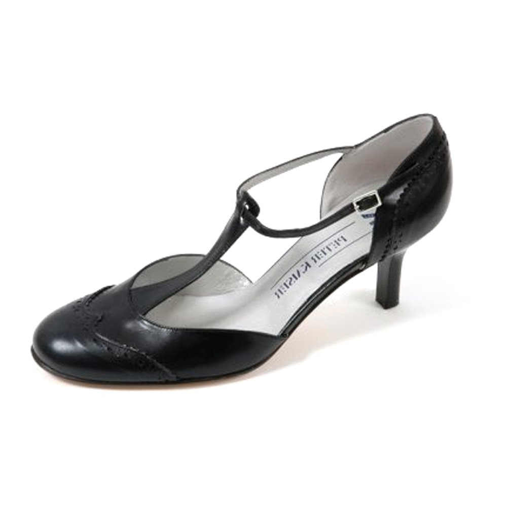 kaiser damar t bar black leather sandal