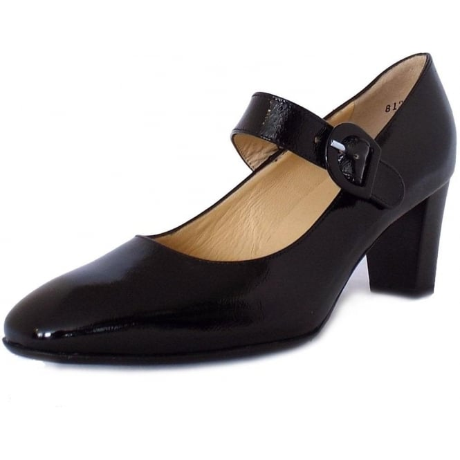 Peter Kaiser Didra Mary-Jane Court Shoes in Black Patent
