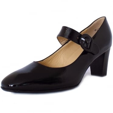 Didra Mary-Jane Court Shoes in Black Patent