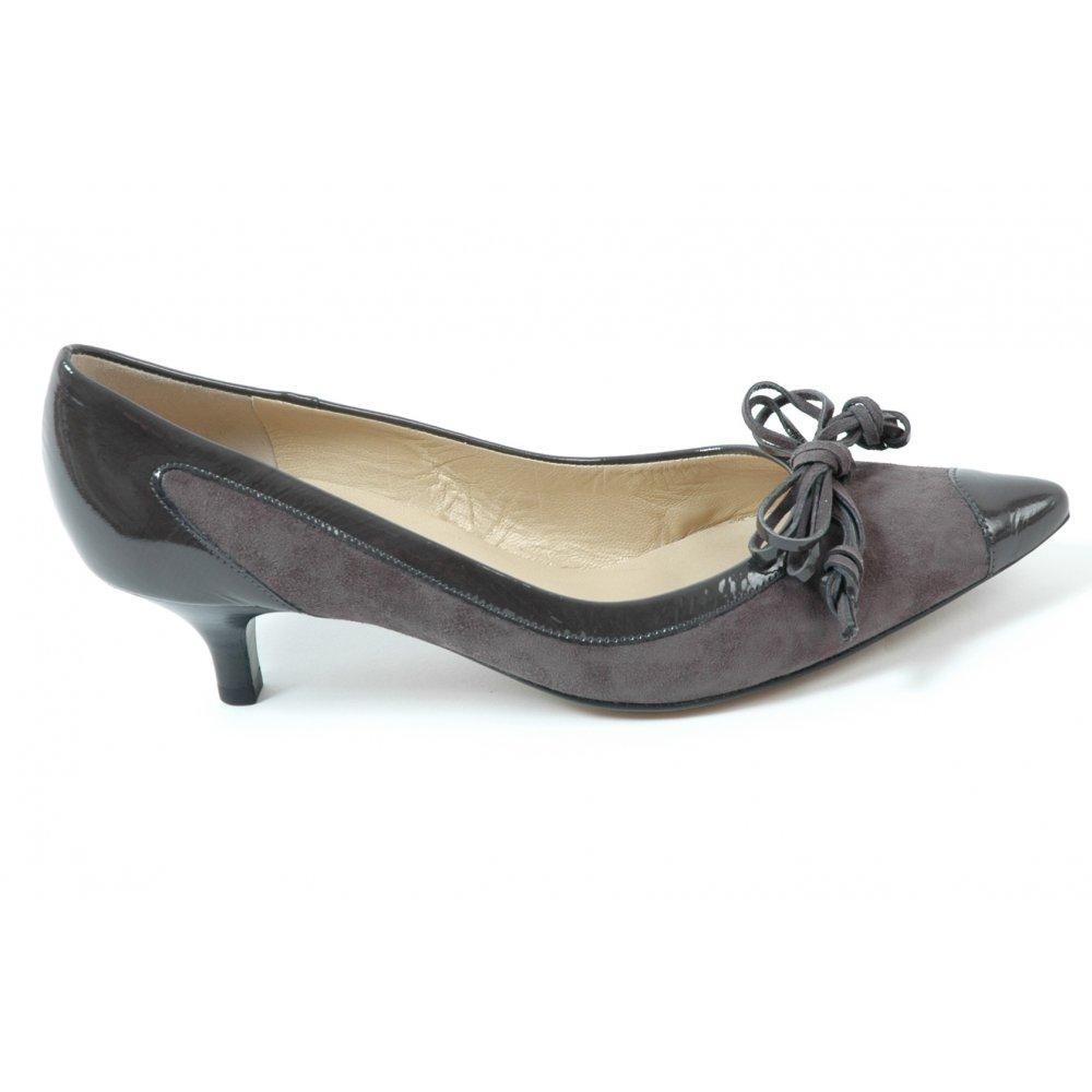Grey Kitten Heel Shoes Size
