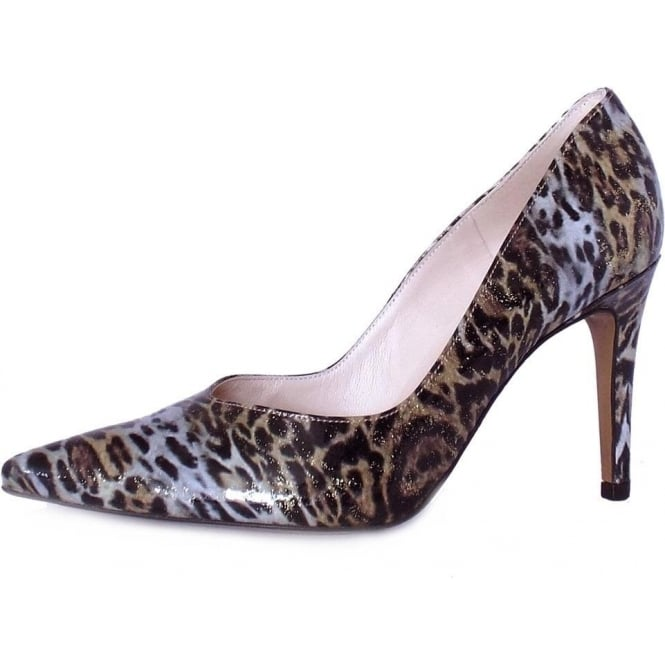 Peter Kaiser Dione Pointed Toe High Heel Pumps in Leopard Print