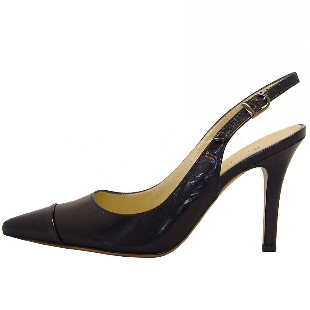Black Patent High Heel Slingback Shoes