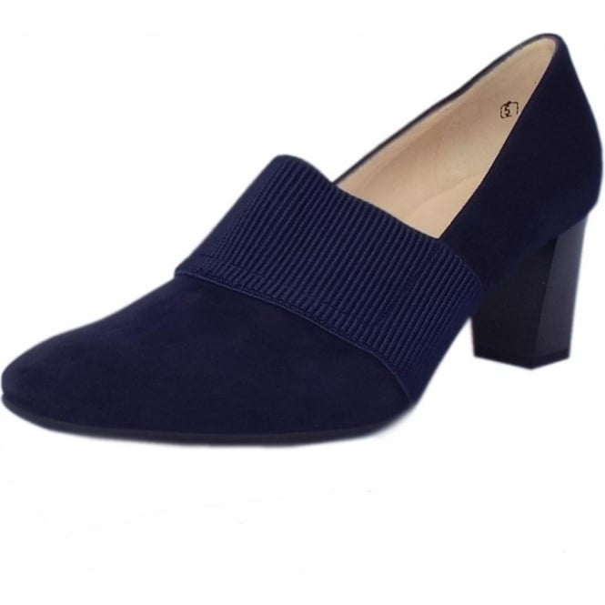 Peter Kaiser Dorna High Top Court Shoes in Navy Suede