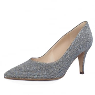 Ebby Stiletto Court Shoe in Topas Shimmer
