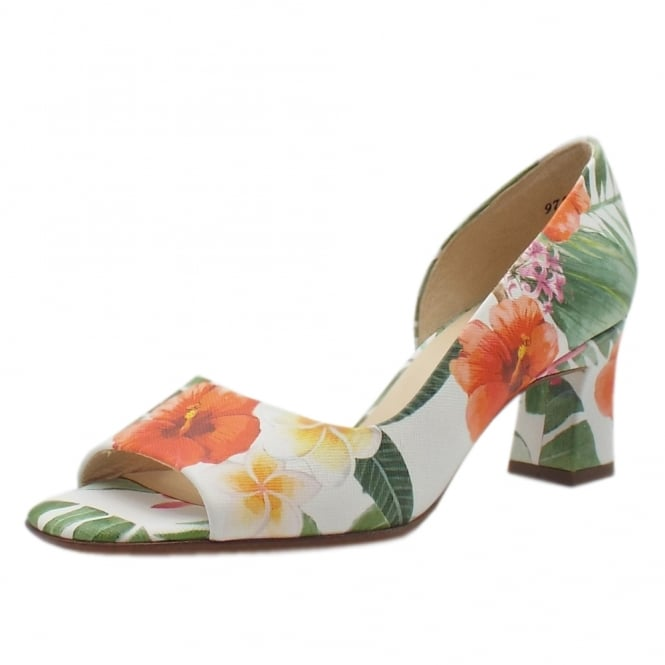 Peter Kaiser Elana Open Toe Shoes in Multi Tropic