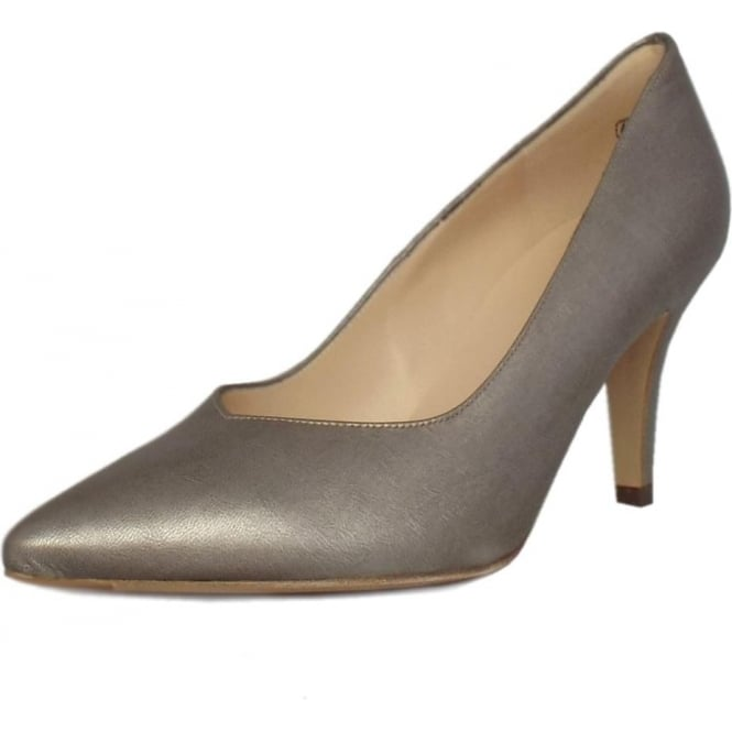 Peter Kaiser Elektra Dressy Pointy Toe Mid Heel Court Shoes in Taupe Furla