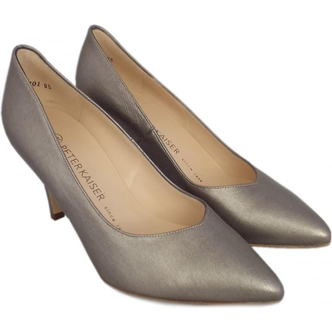 fd62be9e5ba Elektra Dressy Pointy Toe Mid Heel Court Shoes in Taupe Furla