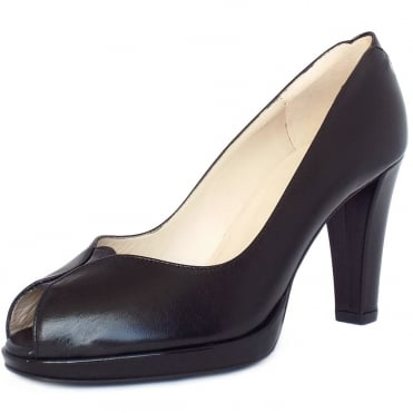 Emilia Women's Peep Toe Court Shoes in Black