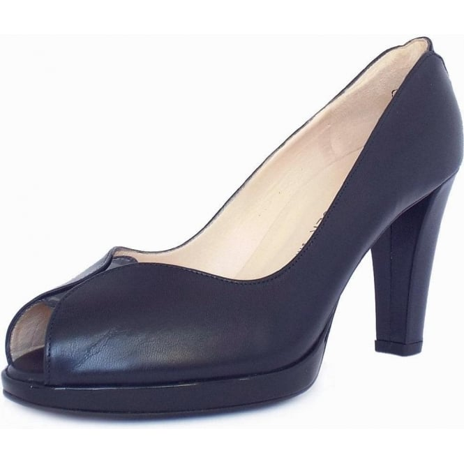 Peter Kaiser Emilia Women's Peep Toe Court Shoes in Navy