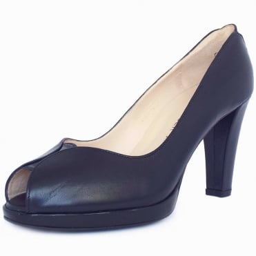 Emilia Women's Peep Toe Court Shoes in Navy
