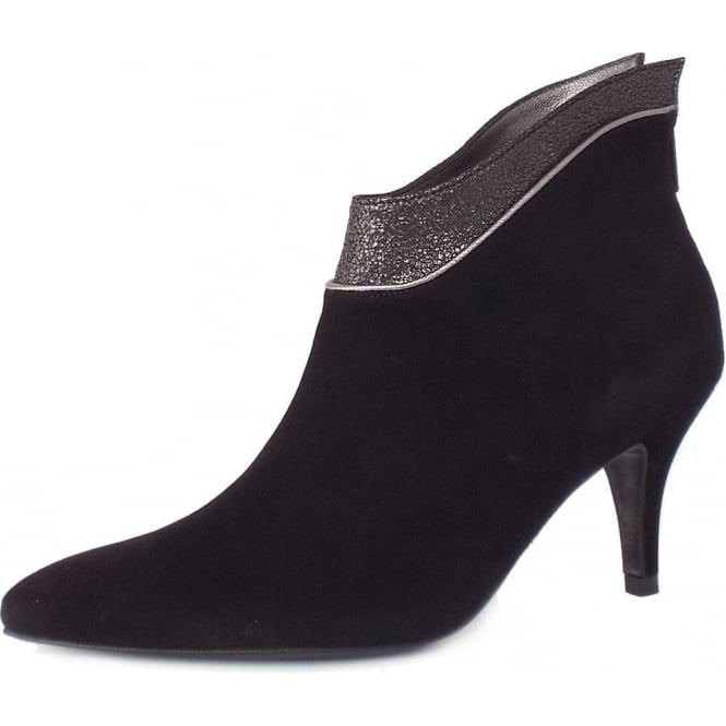 Peter Kaiser Frina Women's Fashionable Ankle Boots in Black Suede