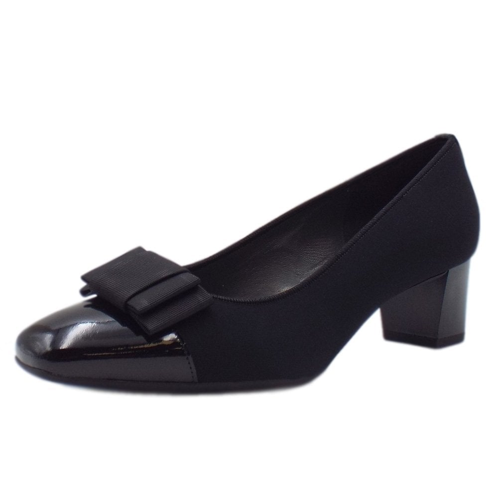 8a4791731a41 Gristina Low Heel Wide Fit Shoes in Black Patent
