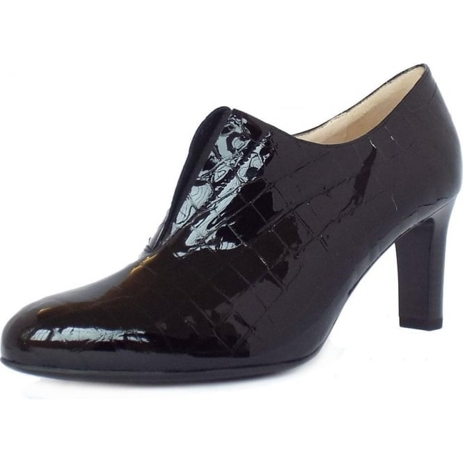 Peter Kaiser Hanara High Top Trouser Shoes in Black Croc Effect Patent