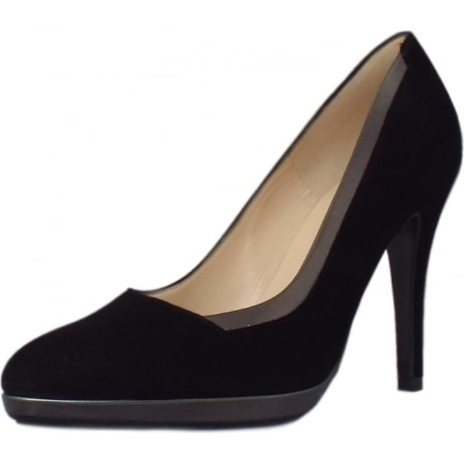 Peter Kaiser Hetlin High Heel Dressy Court Shoes in Black Suede