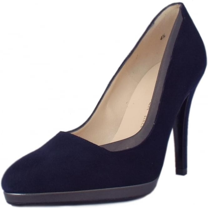 Peter Kaiser Hetlin High Heel Dressy Court Shoes in Navy Suede