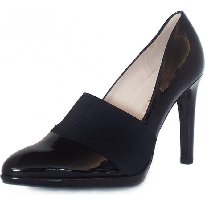 Peter Kaiser Horta High Heel Court Shoes in Black Patent