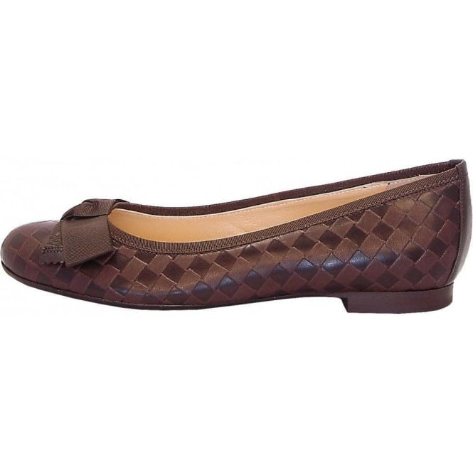 Peter Kaiser Idora ballet pumps in brown leather