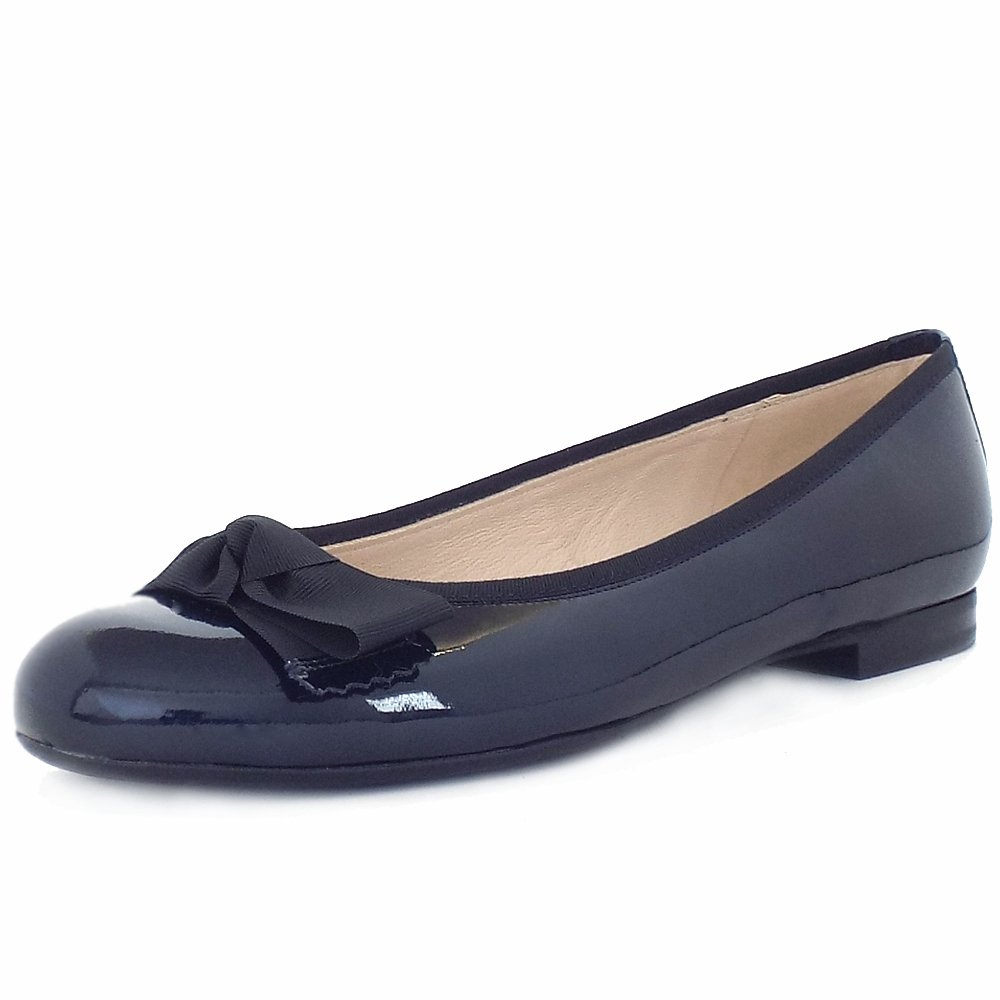 Flat Patent Navy Shoe Women