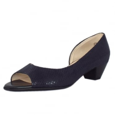 Itha Low Heel Open Toe Shoes in Notte Topic