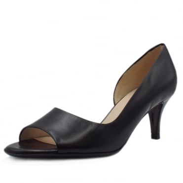 Jamala 18 Women's Open Toe Shoes in Black Leather