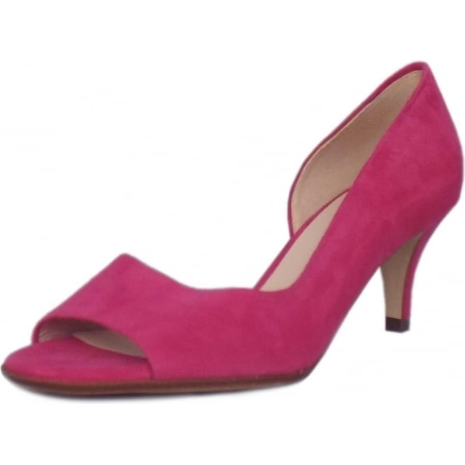 Peter Kaiser Jamala Women's Open Toe Shoes in Berry Suede