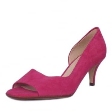 Jamala Women's Open Toe Shoes in Berry Suede