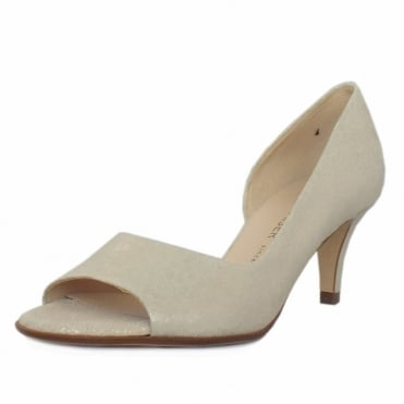 Jamala Women's Open Toe Shoes in White Gold