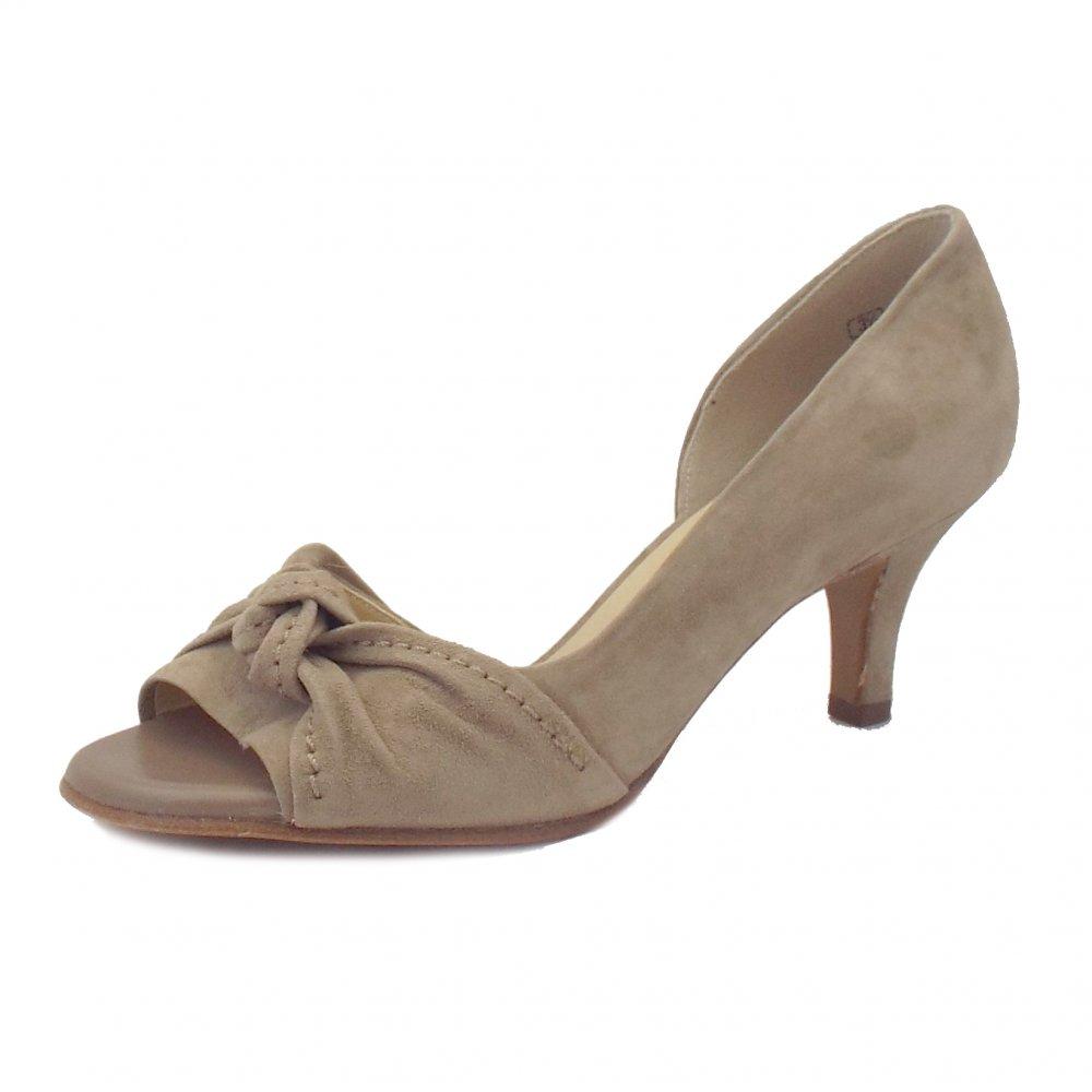 peter kaiser jamo ladies taupe beige suede high heels mozimo. Black Bedroom Furniture Sets. Home Design Ideas