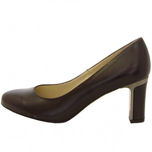 Ladies Dark Brown Court Shoes