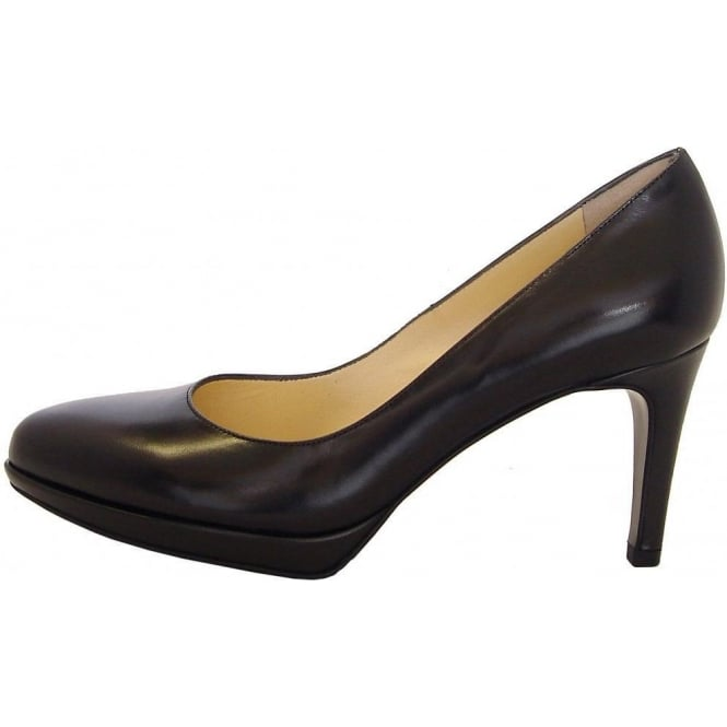 Peter Kaiser Konia smart mid heel court shoes in black