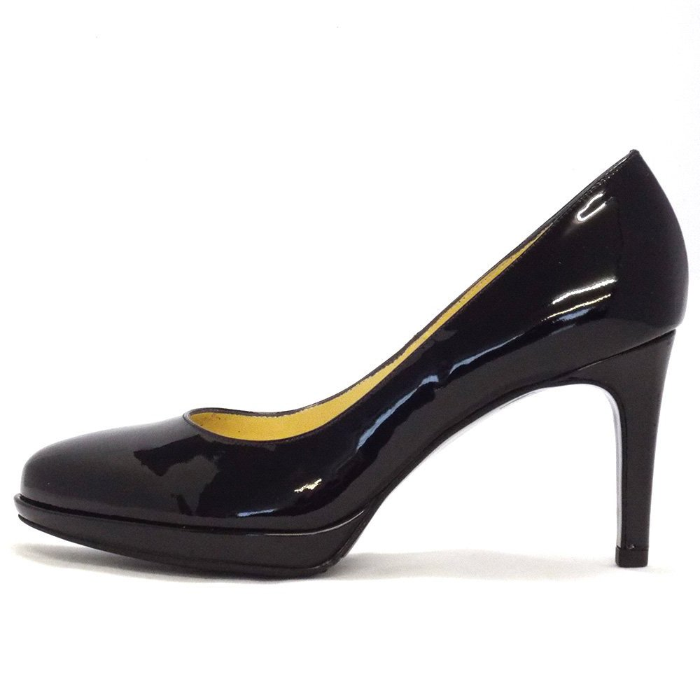 kaiser konia smart court shoes in black patent