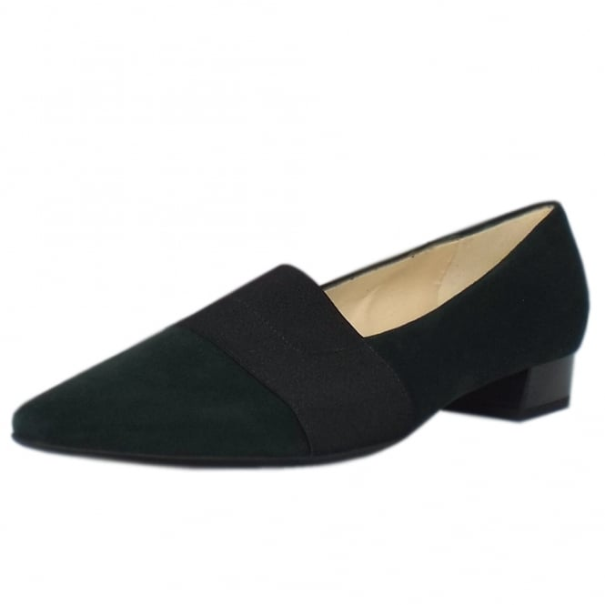 Peter Kaiser Lagos Pointed Toe Ballet Pumps in Bottle Suede