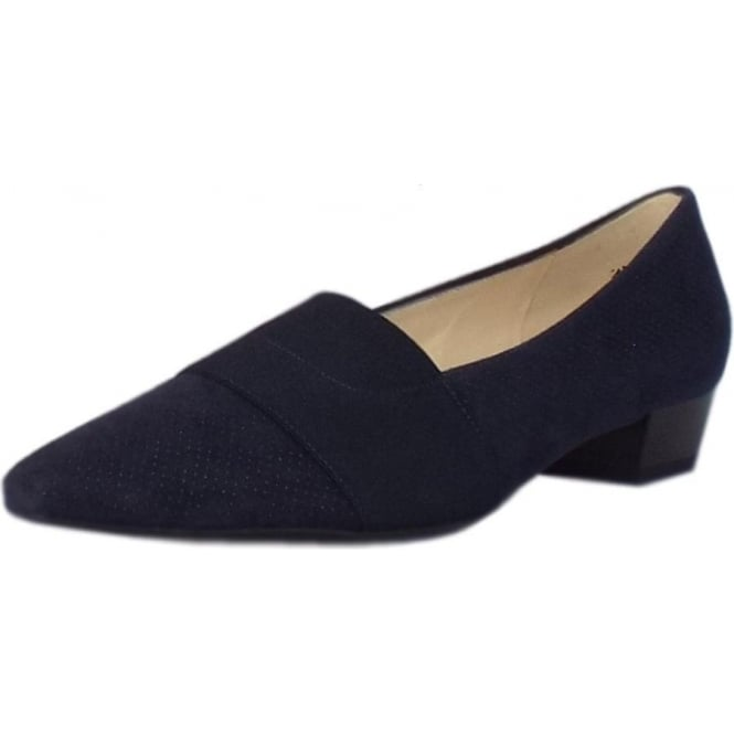 Peter Kaiser Lagos Pointed Toe Ballet Pumps in Notte Speckle Suede